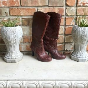 Gorgeous Woven Italan Leather Boots